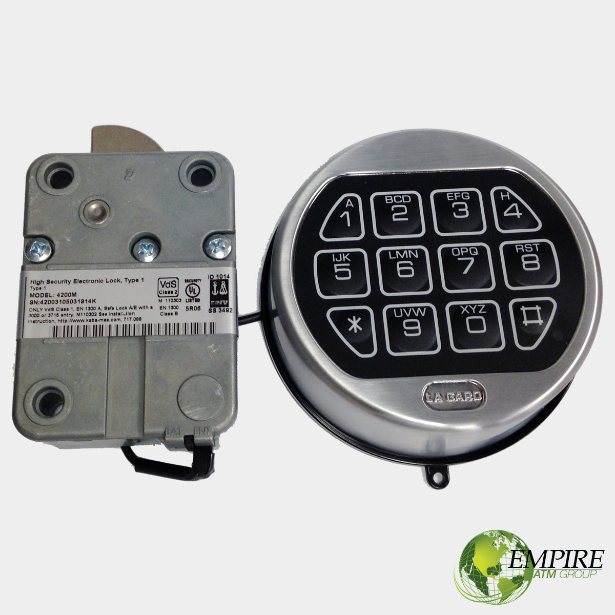 Electronic Pad Locks : Replacement electronic lock empire atm group