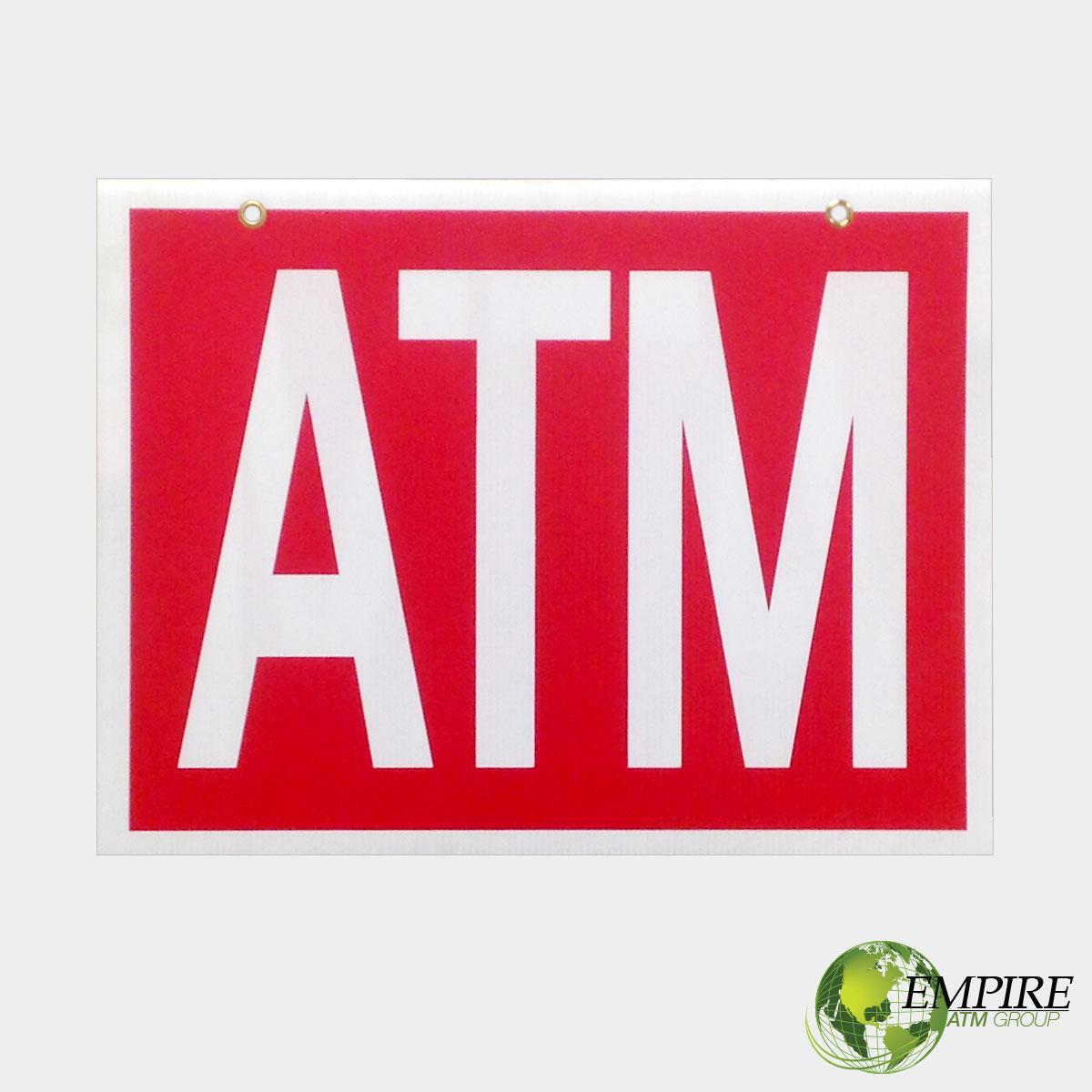 Plastic ATM Sign – E...